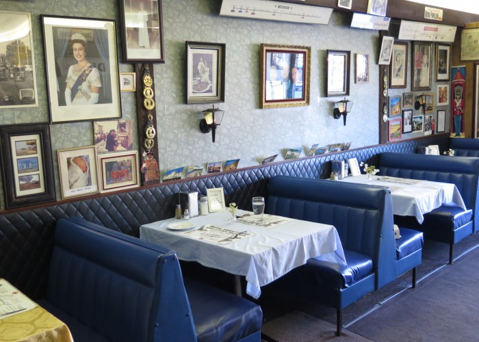 The Diner, Table service restaurant, traditional British food, homemade pies, fish and chips, full English breakfast, corned beef hash, fried bread