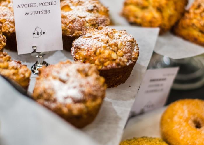 Melk Bar à Café - coffee, baked goods, muffins, scones, maple bacon doughnuts, barista