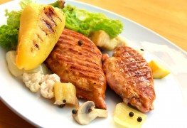 Grill up turkey breast with cranberry-orange sauce