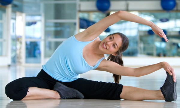 Moderate leg stretches for a quick workout