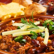 How to make turkey and bean chili with avocado salsa
