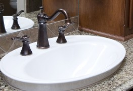 Quick-fix tip: sprucing up an old sink with a new faucet