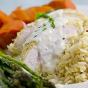 The all-new, healthier chicken cordon bleu