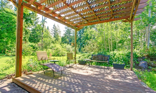 Add a unique element to your garden with an arbour or pergola