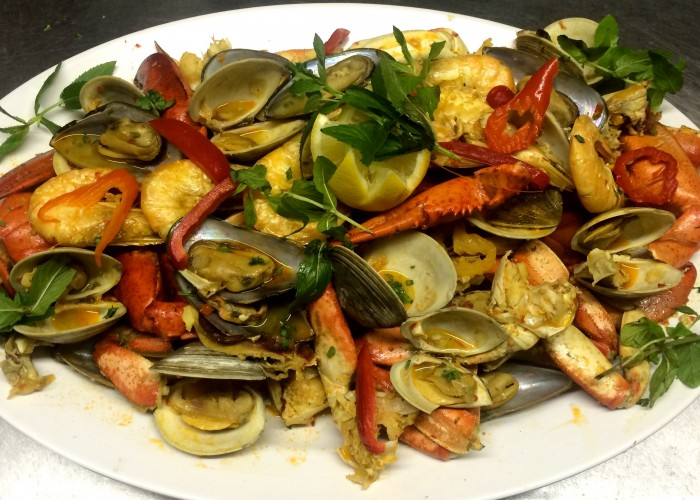 The menu at Amadeu's Restaurant includes seafood, meat and more.