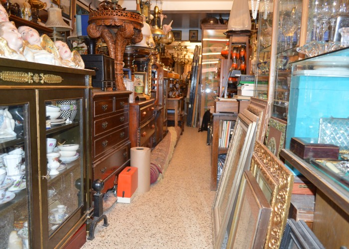Theinterior of Antiques Loft 9, an antique shop located in Mile End.