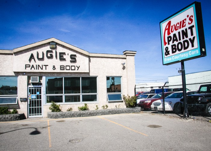 Augie's Paint & Body is located just off Edmonton Trail on 36 Avenue Northeast.