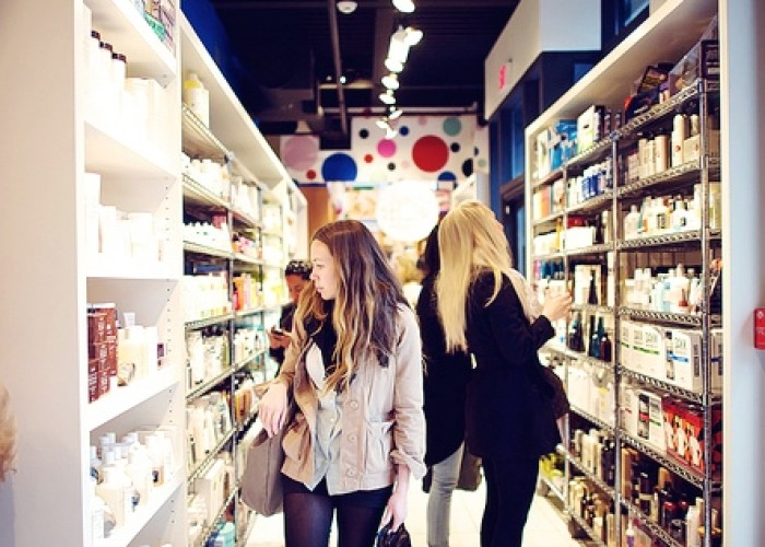 Beauty Mark attracts stylish shoppers with its upscale selection of makeup and skin care products.