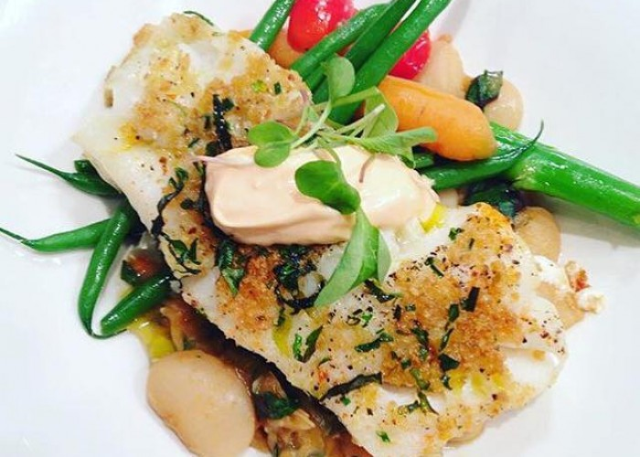 Bistro Grace offers up a varied menu, including this dish of Atlantic cod.