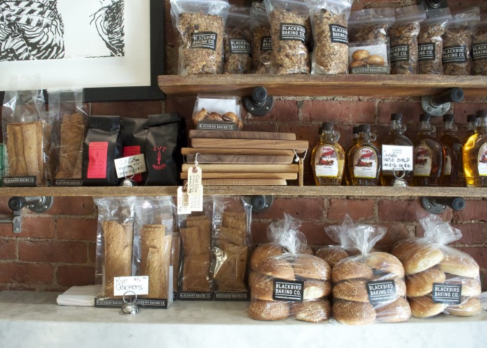 Blackbird Baking Co. - a variety of breads and pastries are on offer at the local bakery