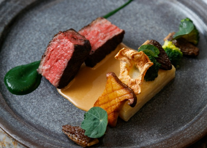 The Wagyu beef at Botanist.