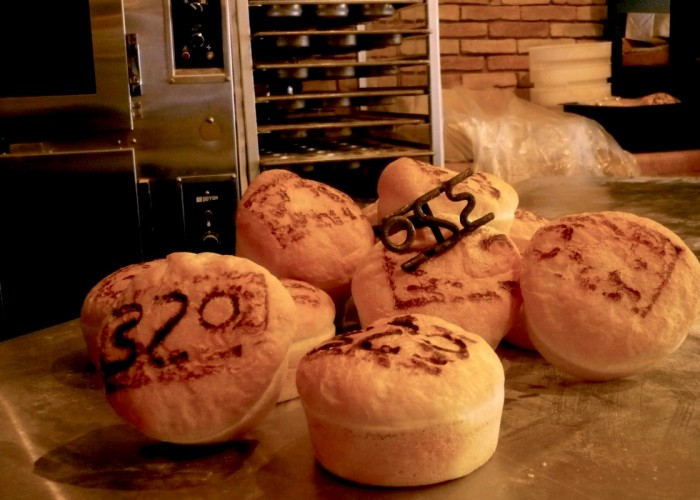 Burger 320 buns are branded with its signature number.