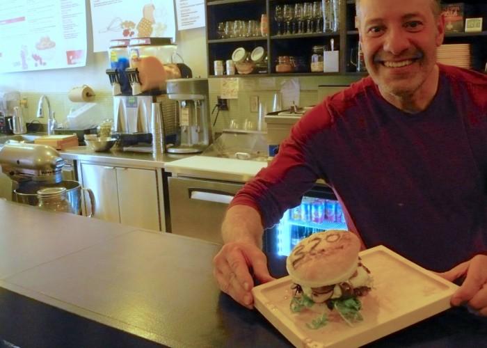 Burger 320 serves burgers, waffles and gelato.