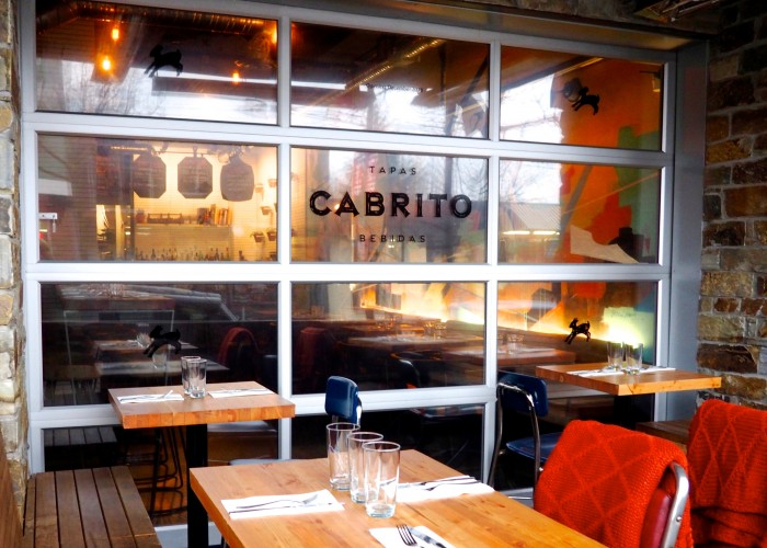 Cabrito's outdoor seating area is an ideal spot for people watching along Vancouver's eclectic Commercial Drive.