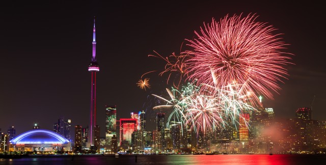 Where to watch Canada Day fireworks in Toronto