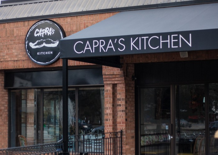 Capra's Kitchen, conveniently located on Lakeshore Road West in the building formerly occupied by La Felicità, boasts warm weather patio seating for 96.