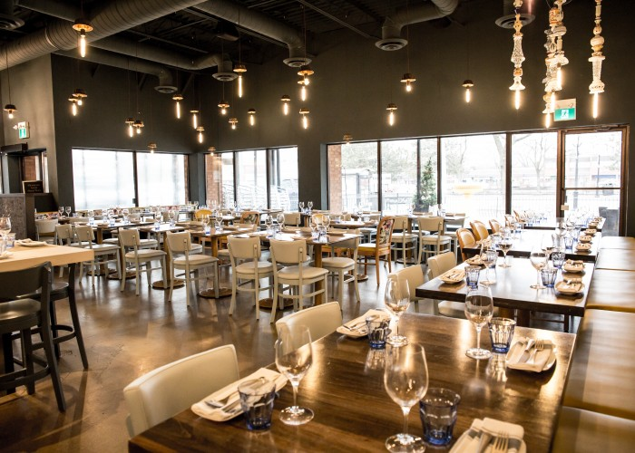 Capra's Kitchen boasts an impressive dining space.