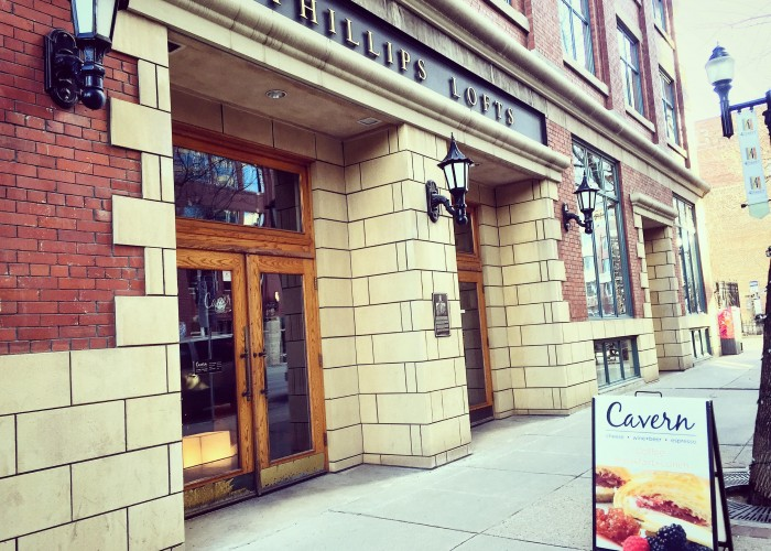 Cavern is located in the historic Phillip Lofts on 104 Street.