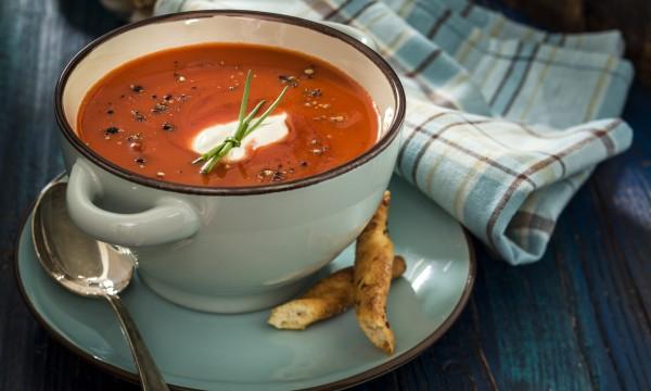 2 flavoursome and rich tomato soups