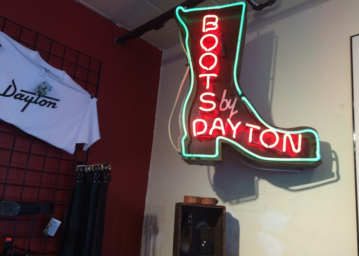 The Dayton Boots showroom is located in East Vancouver on East Hastings and Nanaimo.