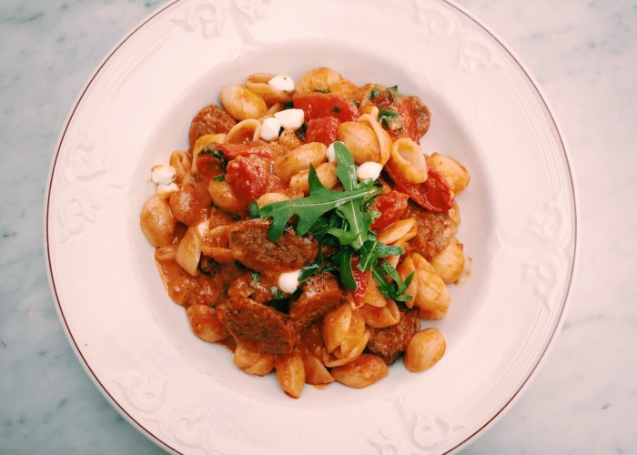 The Distillery Bar + Kitchen's menu features a variety of Italian pasta dishes.