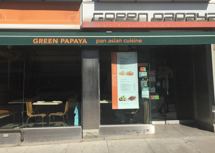 Serving up Thai and Vietnamese fusion dishes, Green Papaya is a popular spot on Yonge Street.