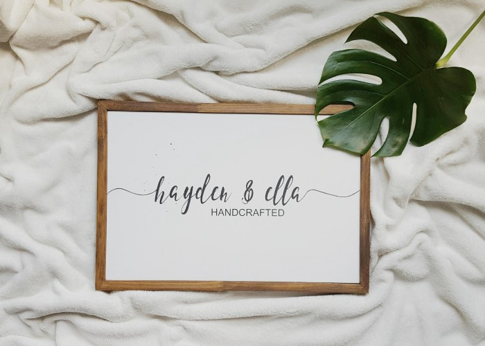 Hayden & Ella Handcrafted creates chic, hand-knitted items for moms and babies, plus home decor items