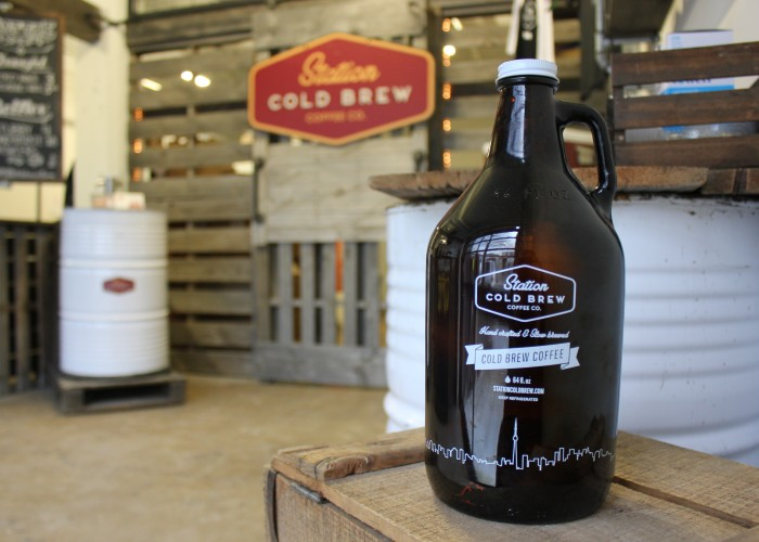 Station Cold Brew Coffee Co. - growler-sized bottles are available for takeaway