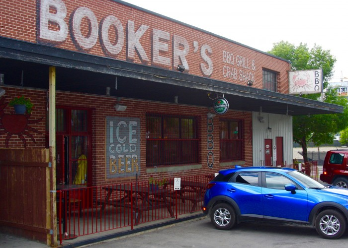 Booker's BBQ Grill and Crab Shack serves Southern barbecue and seafood.