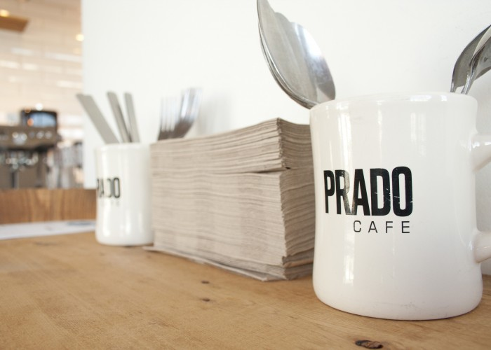 In addition to coffee and pastries, Prado's Fraser Street location also offers a variety of breakfast options.