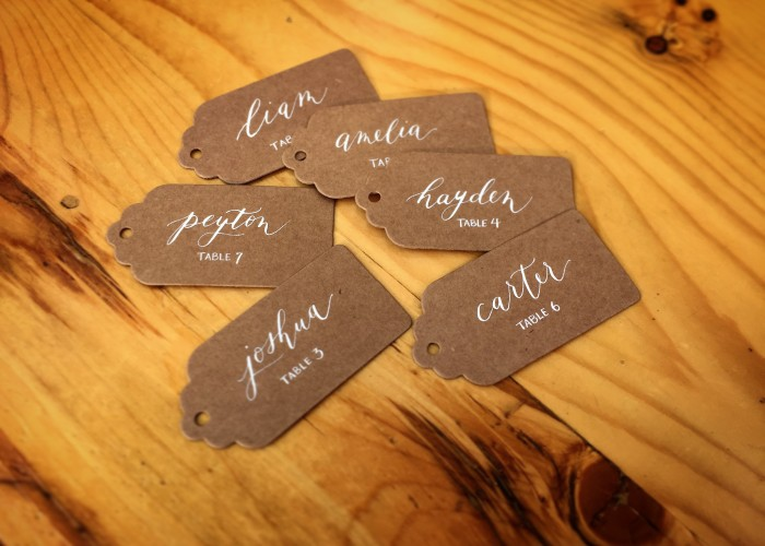 Rabbit's Loop Calligraphy designs special, custom calligraphy for weddings and events