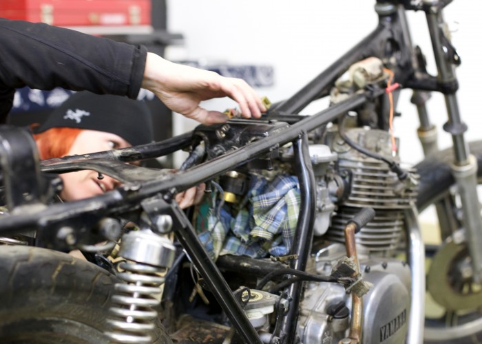 Torch Motorcycle customers can build their bikes or have them hand crafted by Torch staff.