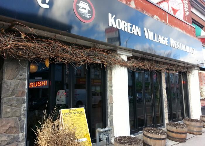 Korean Village Restaurant is located on Bloor Street West in Toronto.