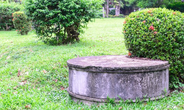What causes septic tank odour?