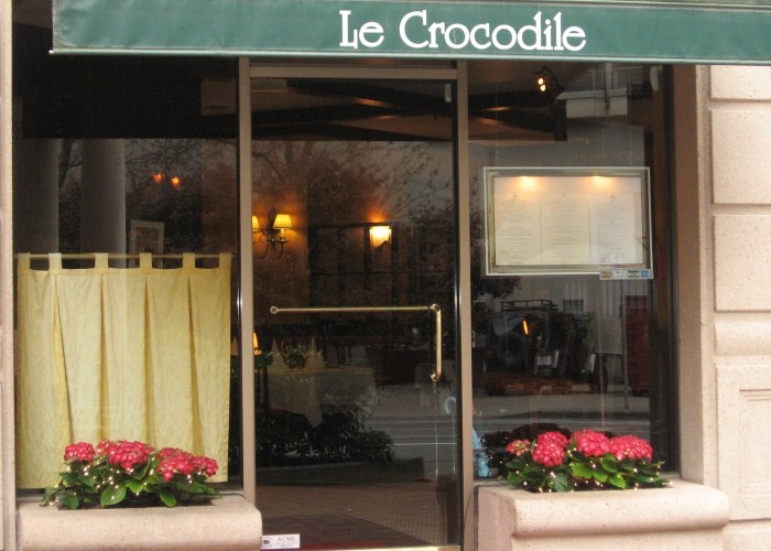 Le Crocodile's iconic downtown Vancouver dining room located at Burrard and Smithe.