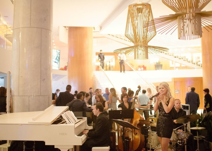 The Lobby Lounge and RawBar is a popular hangout for locals and hotel guests alike.