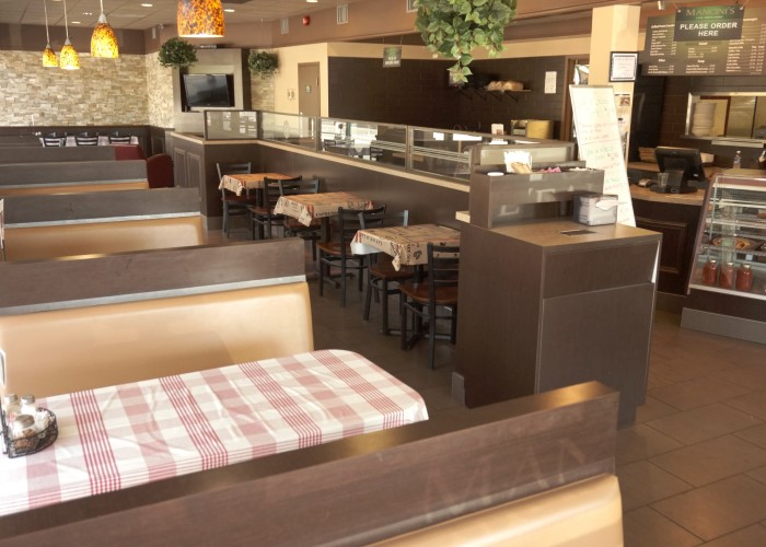 Mancini's features a casual and comfortable environment in which to dine.
