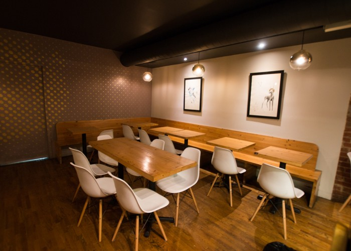 Dining area of Manic Coffee.