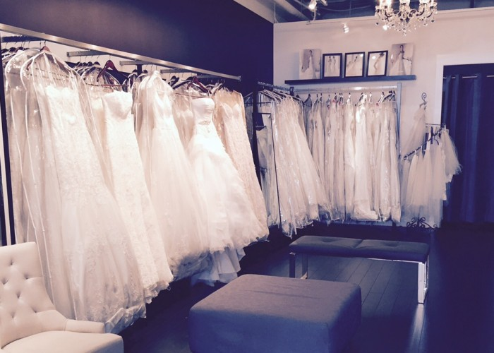 Any bride will feel like a princess wearing a gown from Mia Boutique.
