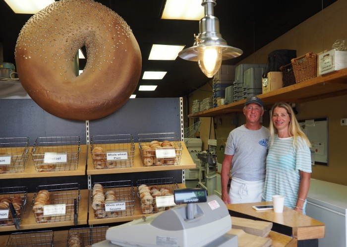 Mount Royal Bagel Factory owner Krista Rawlings and her husband Larry opened their North Van bakeshop in 2004.