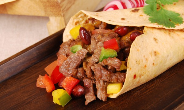 Authentic Mexican-style beef and black bean burritos