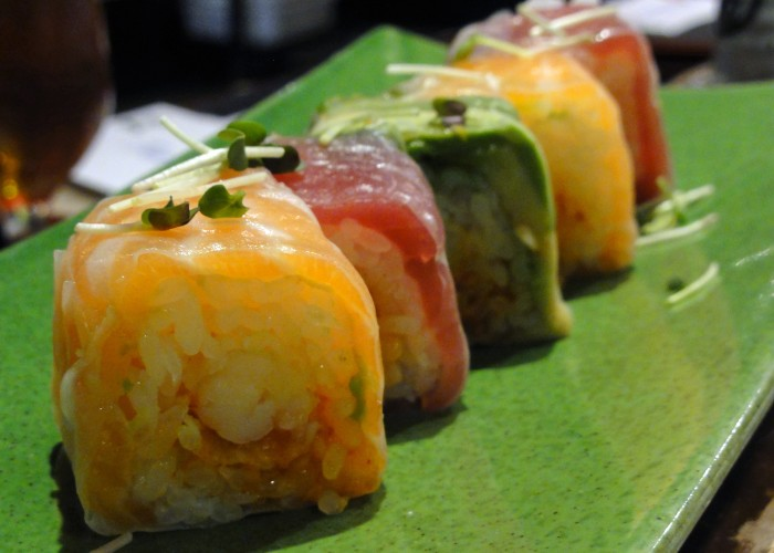Nami's sushi spring roll is a customer favourite.