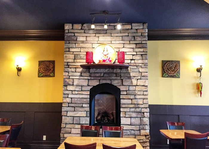 Narayanni's is located in a renovated historic building just off of Whyte Avenue.