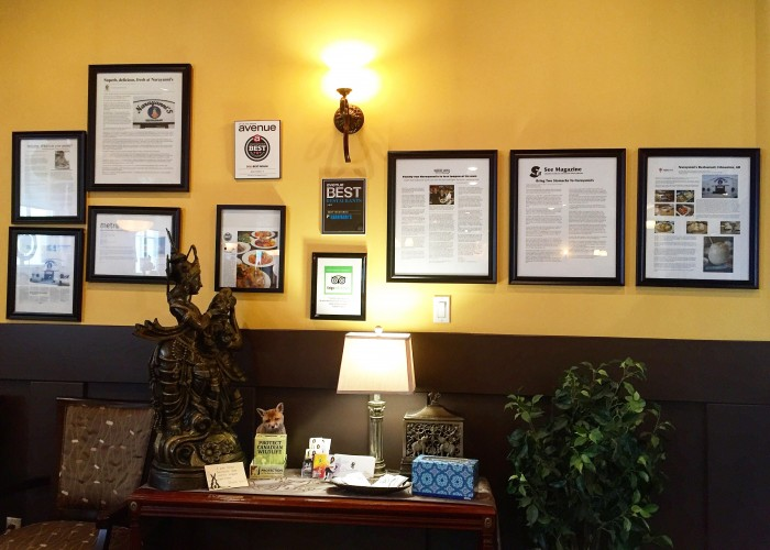 Narayanni's has won numerous awards, including Best Indian food from Avenue magazine.