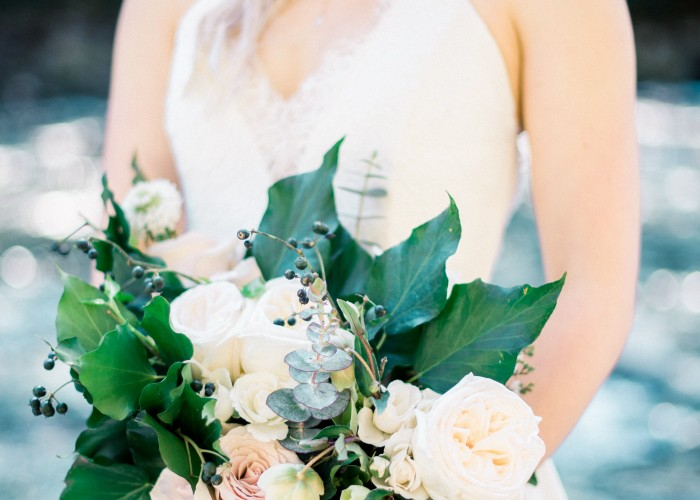 Our Little Flower Company creates stunning wedding bouquets.