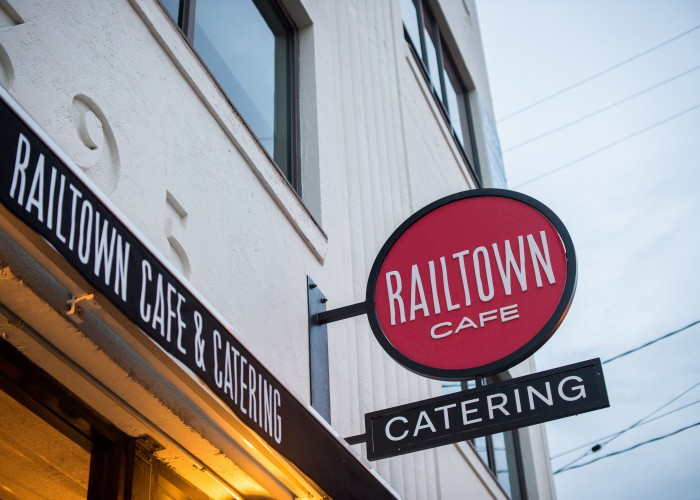 Railtown Catering and Cafe's flagship location at 397 Railway Street.