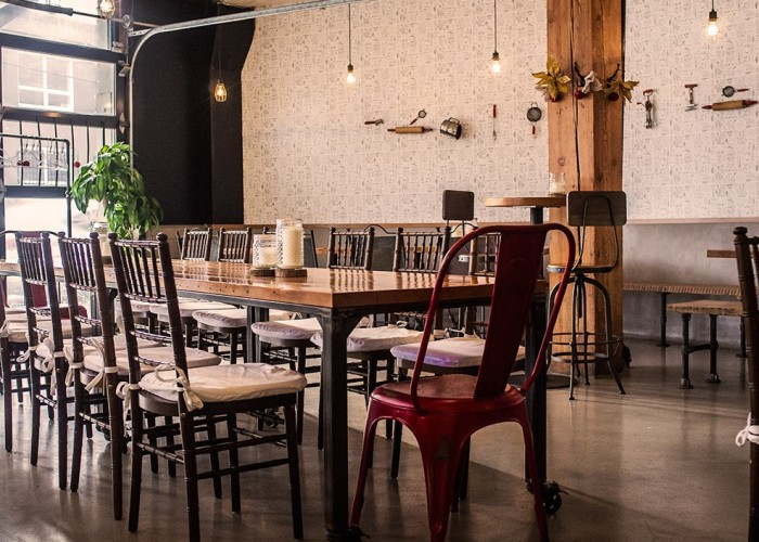 The industrial interior at Railtown cafe is inspired by the neighbourhood