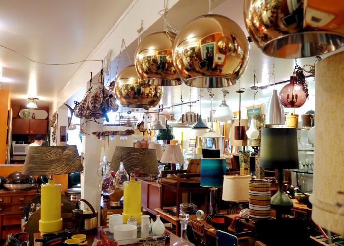 Vintage light fixtures dazzle at ReFind's eclectic showroom.