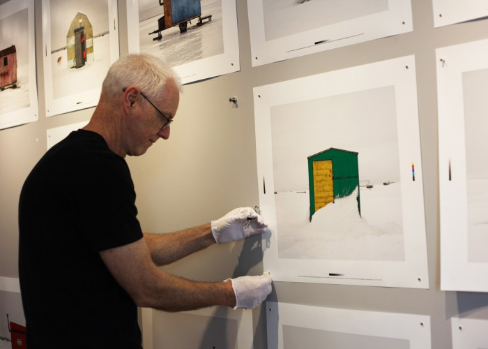 Richard Johnson Gallery uses the wall to organize and display photographs.