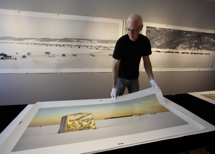 At Richard Johnson Gallery, the village series photos are panoramas that are beautifully printed and eight feet long.